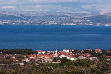 Панорама, мирцa, Остров, Брач, море